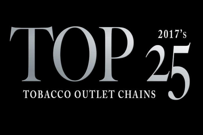 top 25 tobacco outlet chains of 2017
