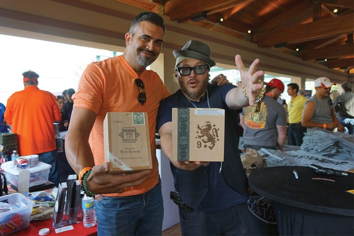 Jonathan Drew and Willy Herrera of Drew Estate at Rocky Mountain Cigar Festival