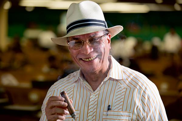 Eladio Diaz, Master Blender at Davidoff Cigars