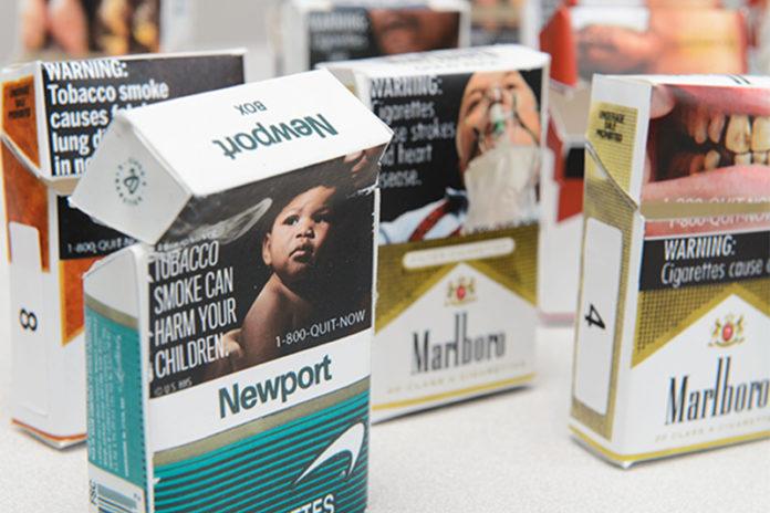 Pictorial Graphic Labels Cigarettes