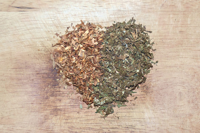 Tobacco and Marijuana Leaves