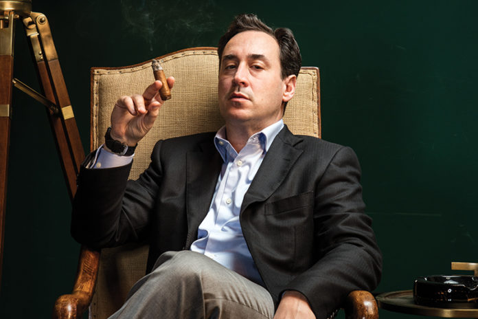 David Weiss of Lone Wolf Cigar Lounge