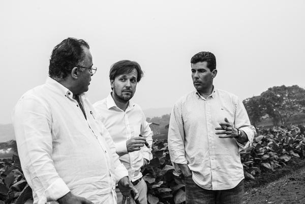 (from left to right)  Gilberto Oliva Jr., Frederik Vandermarliere,  and José Oliva