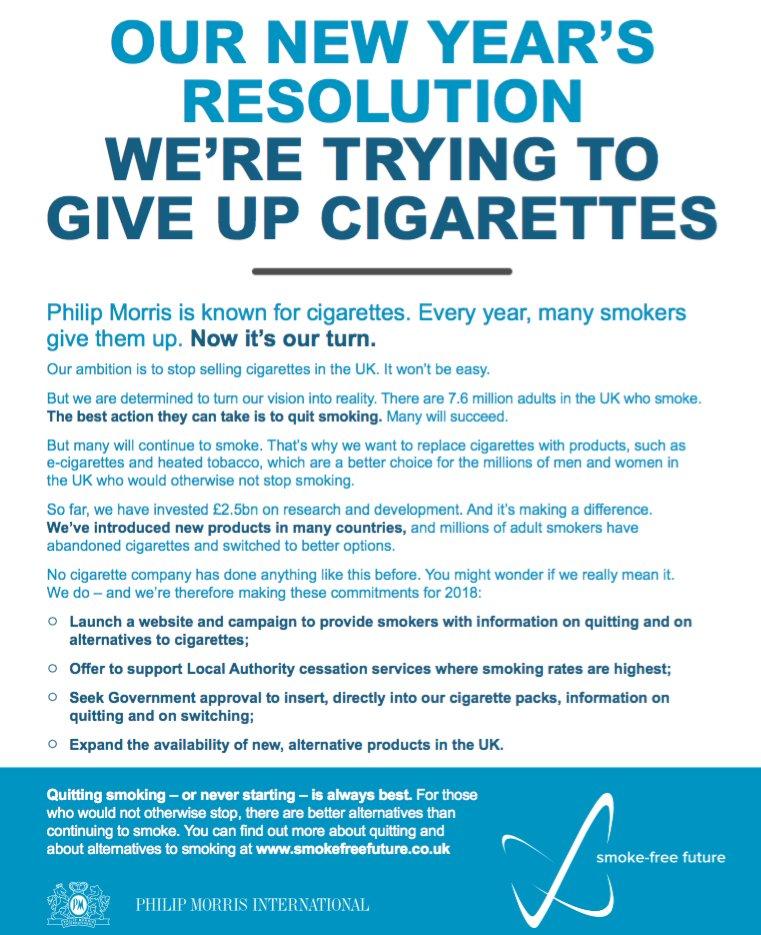 Philip Morris International Vows to go Smoke-Free