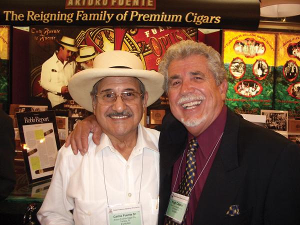 Hugh Cassar with Carlos Fuente