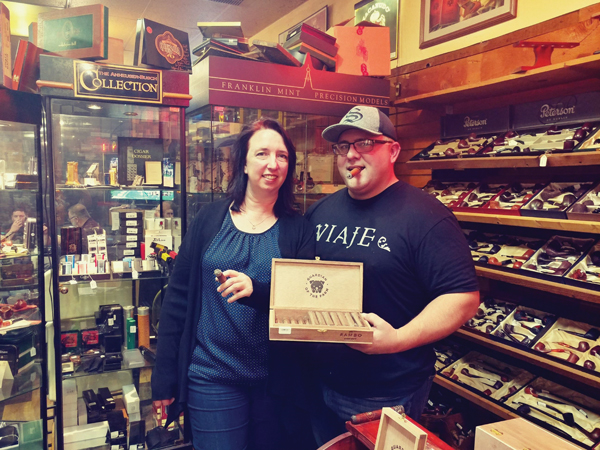 Jessica and Christian Hutson, owners of Just For Him in Springfield, Missouri