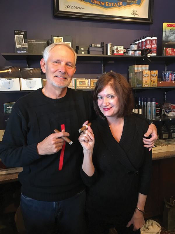 Don and Mary Lynn Kane, owners of Lake Country Cigars in Delafield, Wisconsin