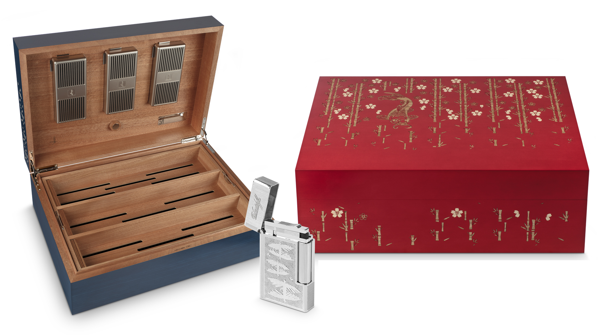 Davidoff Diademas Finas Humidor and Lighter