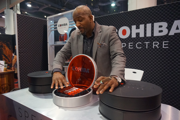 Sean Williams with Cohiba Spectre at IPCPR 2018