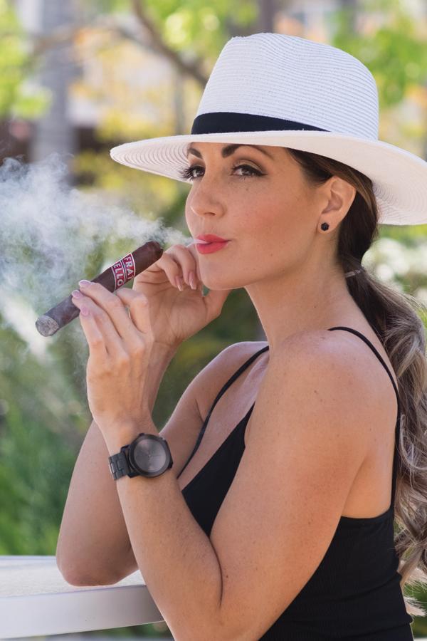"""Delicia Silva, aka """"Cigar Vixen"""""""