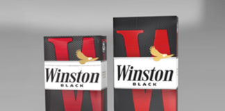 Winston Black premium cigarette