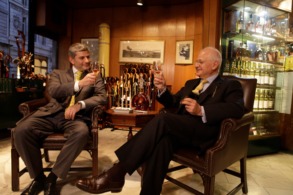 Eddie and Edward Sahakian, managers of Davidoff of London, a tobacco retail store that has been operating in London's S. James's Street neighborhood since 1980.