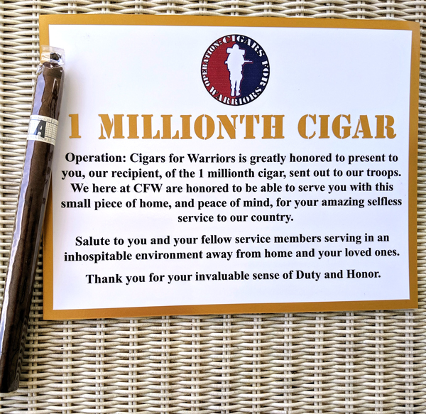 Operation: Cigars For Warrior ships Millionth Cigar to Troops