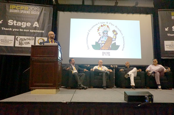 Scott Pearce announcing Premium Cigar Association (PCA)