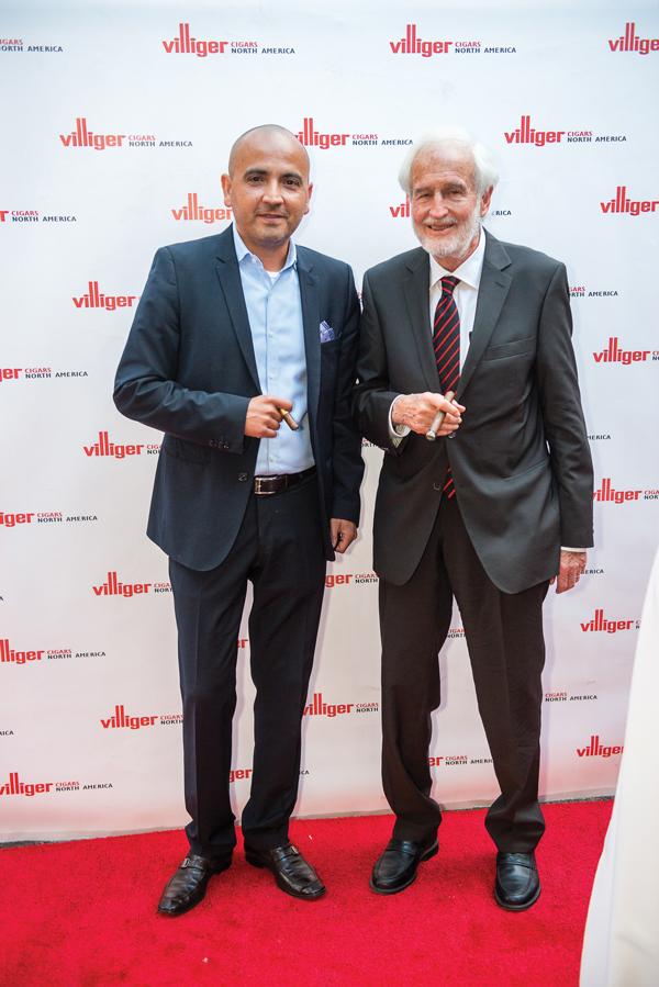 Rene Castaneda and Heinrich Villiger   Villiger Cigars