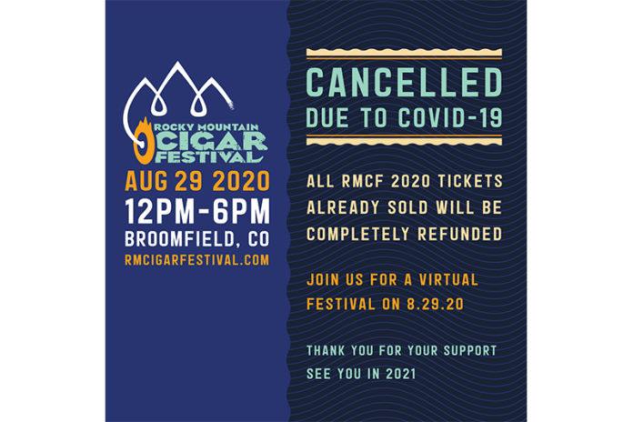 Rocky Mountain Cigar Festival 2020 Cancelled