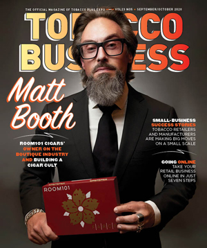 Matt Booth, Room101   Tobacco Business Magazine - September/October 2020