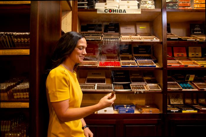 Sarah Santos, President of Cigars International   Photo by Merideth Eldow